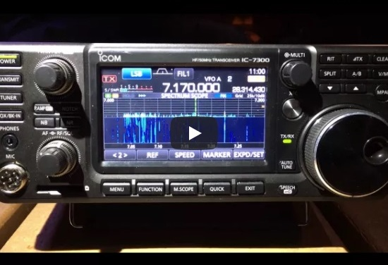 Icom IC-7300 first impressions from AB4BJ