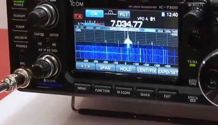 Icom IC-7300 and spectrum / waterfall on the PC